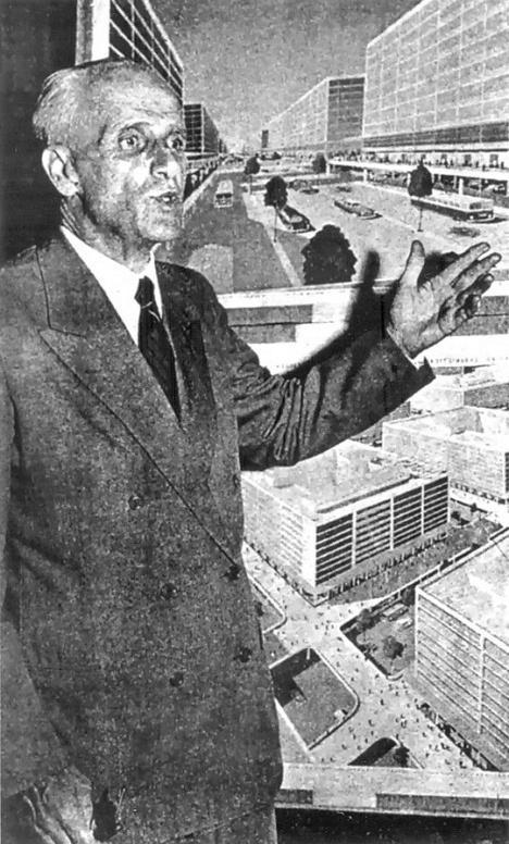 Mattos Pimenta defende seu projeto para Brasília na década de 1920Foto divulgação  [Projetos para Brasília 1927-1957, de Jeferson Tavares]