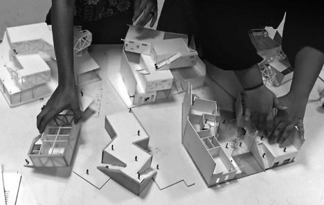 Projeto, maquetes, alunos I. Simões e J. Pereira, segundo 2016Foto divulgação  [Acervo dos autores]