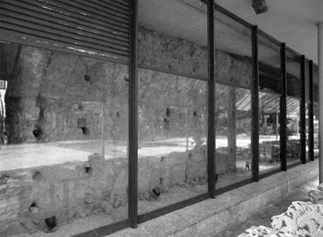 Parede em taipa de pilão, fev. 2013Foto Ivan Fortunato