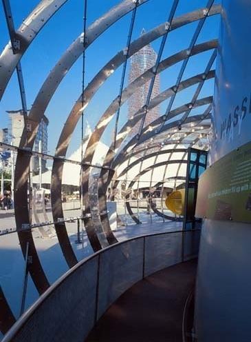 The Bubble. Vista exterior do pavilhão. Arquiteto Bernhard Franken
