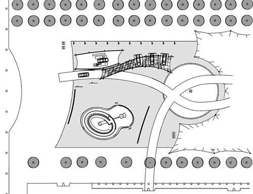 The Bubble. Detalhe da implantação. Arquiteto Bernhard Franken