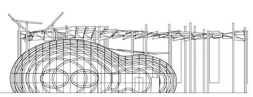 The Bubble. Elevação. Arquiteto Bernhard Franken