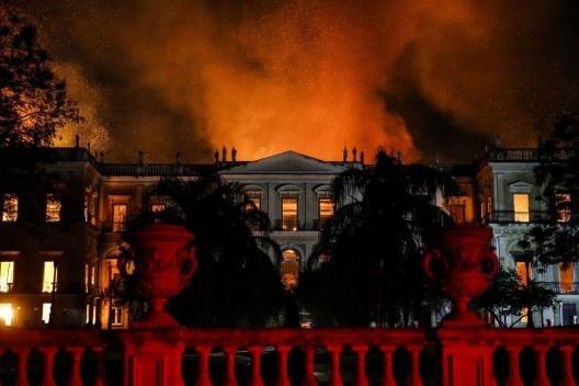 Incêndio destrói Museu Nacional no Rio de Janeiro<br />Foto Tânia Rêgo  [Agência Brasil]