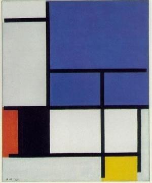 Fig. 1: Composição de Mondrian [www.malaspina.com]