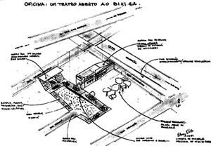 Teatro Oficina, perspectiva de Edson Jorge Elito a partir de concepção original de Lina Bo Bardi [Escritório Arquiteto Edson Elito]