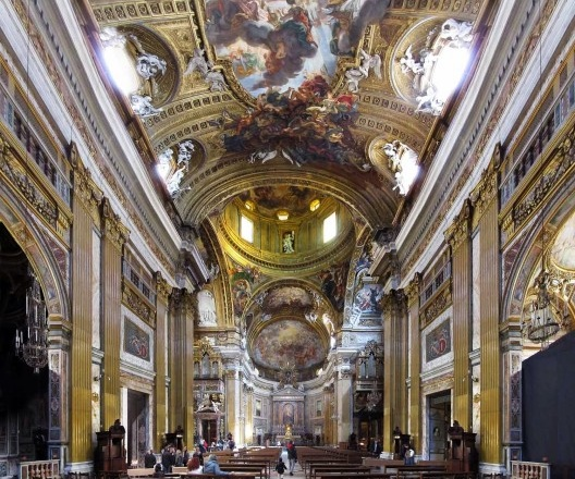 Igreja de Gesù, interior, Roma, arquiteto Giacomo Della Porta<br />Foto Victor Hugo Mori