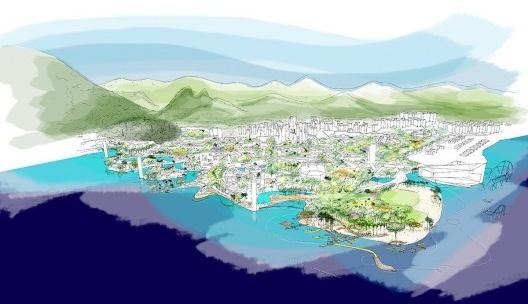 Rio 2016, perspectiva da Vila Olímpica<br />Imagem divulgação