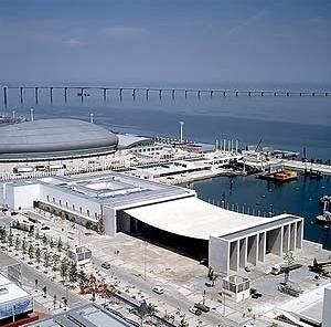 Pavilhão da Expo 98 em Lisboa, Portugal