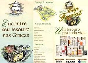 Figura 02 – Prospecto promocional do Edifício Cap Ferrat, representação da arca do tesouro. Construtora Exata