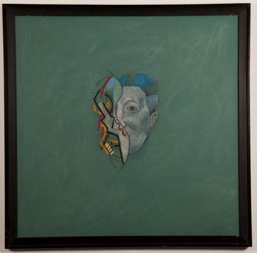 Pablo Picasso e Diego Rivera, óleo sobre tela, 120X120cm, 1987<br />Desenho Marcelo Cipis