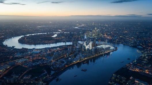 Santiago Calatrava's multi-billion UK project to transform london's greenwich district<br />Advertising image  [Website calatrava.com]