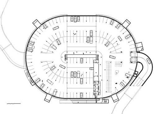 Figura 6 – Garagem subterrânea Trianon, planta