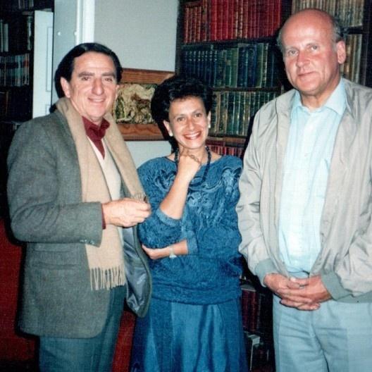 Rogelio Salmona, Silvia Arango y Cristián Fernández Cox, Bogotá, april 1987<br />Foto Ruth Verde Zein