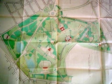 """""""Projeto de Revisão do Parque Municipal"""" 1933. Autor: 7° Seção Técnica da Divisão de Obras [Acervo Arquivo de Processo Geral – DAF4/PMSP]"""