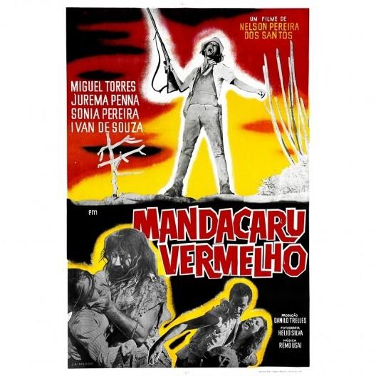 Segundo cartaz do filme Mandacaru Vermelho, Lygia Pape, 1961 <br />Imagem divulgação  [Acervo © Projeto Lygia Pape]