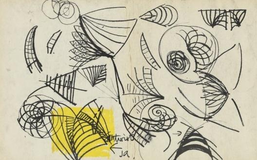Casa de Ópera de Sidney, croquis do processo de projeto da cobertura, Sidney, Austrália, 1957. Arquiteto Jorn Utzon<br />Google Arts & Culture
