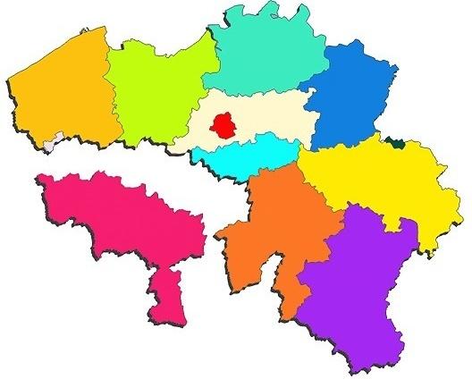 Quebra-cabeça com mapa da Bélgica<br />Imagem divulgação