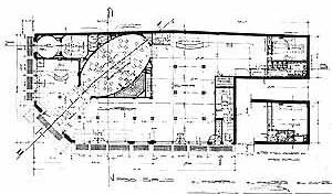 Planta, Primeiro Piso – Salão Versalles e o Grande Salão Moinho, projeto do arquiteto Gianotti, ano 1914