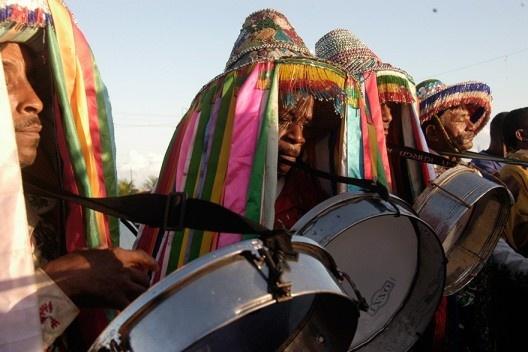 Boi da floresta, festa Bumba meu boi, Maranhão<br />Foto Edgar Rocha  [Portal Iphan]