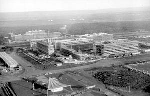 Superquadras 108 e 208 Sul em construção [Acervo Arquivo Público do Distrito Federal]