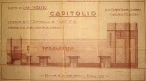 Cine-Theatro Capitólio, projetado pelo arquiteto licenciado Isaac Soares em 1934 [Arquivo Público Municipal de Campina Grande]