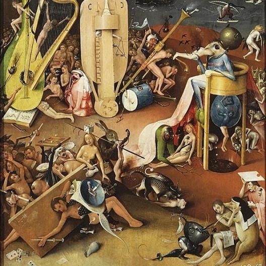 Jardim das Delicias Terrenas, Hieronymus Bosch, 1503-1515<br />Imagem divulgação