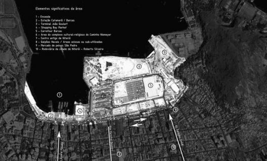 Vista aérea da área central de Niterói  [foto cedida ao autor por Felipe Naltchdjian]