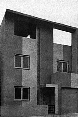 Figura 09 - Residência da Família Altberg, Rua Paul Redfern, 36, Ipanema, Rio de Janeiro. Arquiteto Alexander Altberg, 1932 [revista base, n° 2, set. 1933]