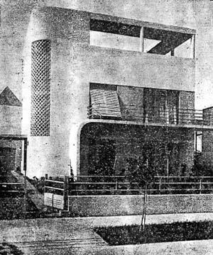 Figura 12 - Residência do Sr. Adalbert Vertecz em Ipanema, Rio de Janeiro. Arquiteto Alexander Altberg, 1932-33