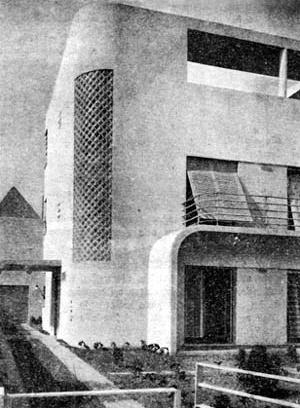 Figura 13 - Residência do Sr. Adalbert Vertecz em Ipanema, Rio de Janeiro. Arquiteto Alexander Altberg, 1932-33