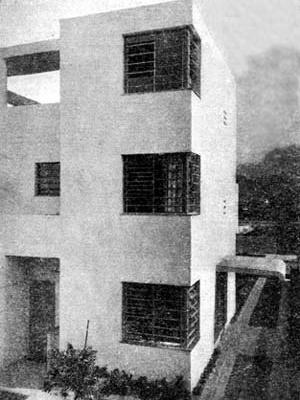 Figura 16 - Residência do Sr. Adalbert Vertecz em Ipanema, Rio de Janeiro. Arquiteto Alexander Altberg, 1932-33