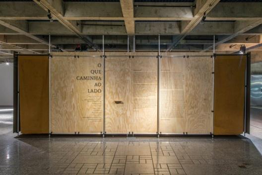 Exposição 'O que caminha ao Lado', Goma Oficina, 2015<br />Foto Lauro Rocha