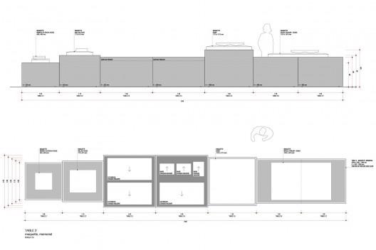 Exposição Paulo Mendes da Rocha & L'Architecture Moderne au Brésil, projeto expográfico, curadoria de Catherine Otondo, Maison d´Architecture de Genebra, 2018<br />Imagem divulgação