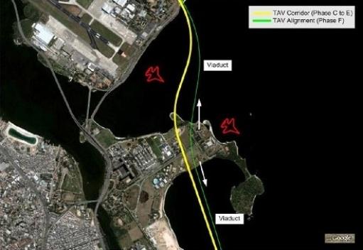 Ajustamento do traçado referencial nas proximidades do Aeroporto do Galeão [www.tavbrasil.gov.br]