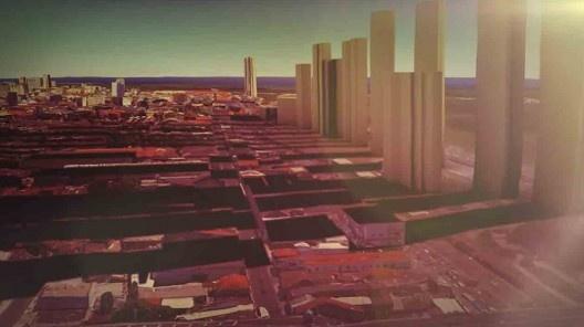 """Projeto urbano de desenvolvimento de Estelita, com torres de alto padrão junto ao mar<br />Foto divulgação  [vídeo """"Recife, cidade roubada""""]"""