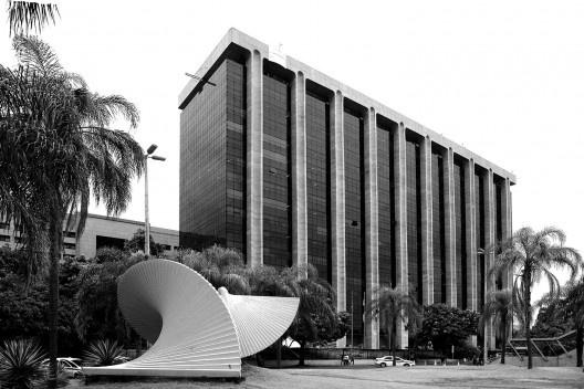 Centro Administrativo São Sebastião, Cidade Nova, Rio de Janeiro, 1982<br />Foto George Magaraia