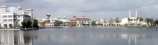 Celebration, Florida. Cidade da Walt Disney Corporation<br />Foto Bobak Ha'Eri