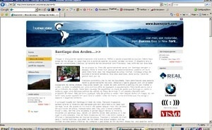 Blog do engenheiro de informática português Gonçalo Gil Mata, relatando parada em Santiago, parte de sua viagem de motocicleta entre Buenos Aires e Nova York, atualmente em curso [www.buenayork.com/noticias.php?id=50. Acesso em 26 mar. 2007]
