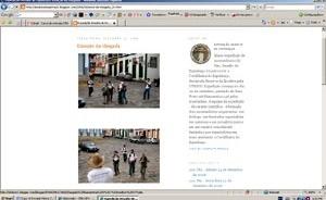 Chegada a Diamantina dos expedicionários e autores do blog Desafio do Espinhaço (42)<br />Foto Cláudia Lima  [desafiodoespinhaco.blogspot.com/2006/09/emoo-da-chegada_26.html. Acesso em 2]