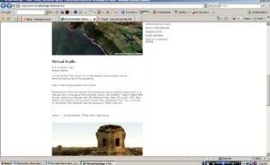 Imagem de tela do site Virtual Heritage Network, Rede de Patrimônio Virtual [www.virtualheritage.net/home.htm. Acesso em 26 mar. 2007]