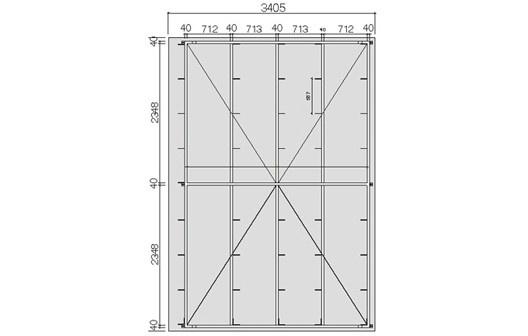 Bastidor metálico do painel de GRC tipo stud frame