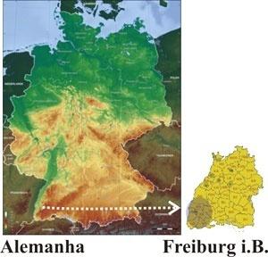 lustração 01: Localização de Freiburg i.B.