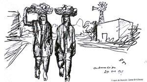 Boceto de Le Corbusier, Asunción, 1928