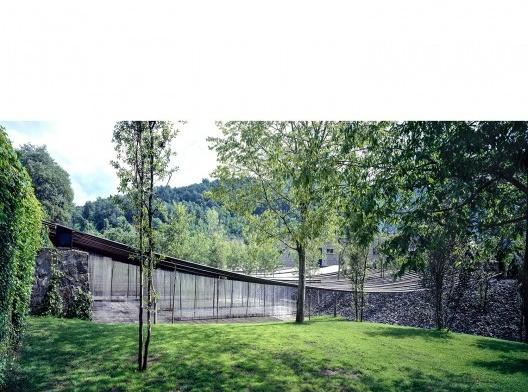 Les Cols Restaurant Marquee 2011 Olot, Girona, Spain<br />Fotografía Hisao Suzuki  [Website Pritzker Prize]