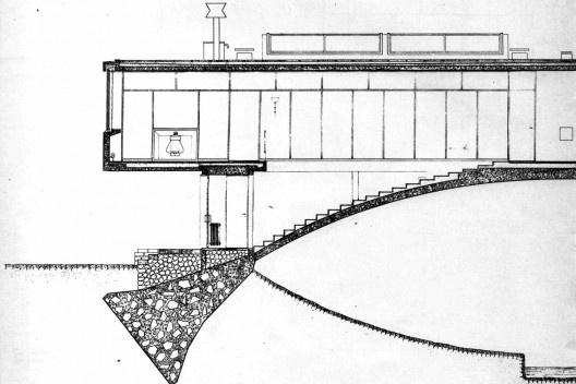 Sección parcial de la casa [Revista Nuestra Arquitectura N8, agosto 1947]