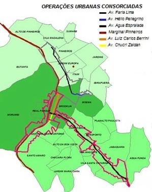 Áreas das Operações Urbanas Consorciadas Faria Lima e Água Espraiada [PMSP]