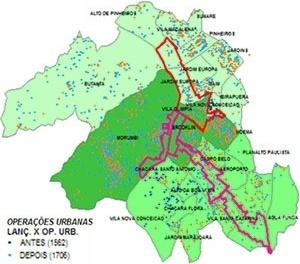 Operações Urbanas Consorciadas Faria Lima e Água Espraiada Lançamentos imobiliários antes e depois de 1995 [Embraesp]