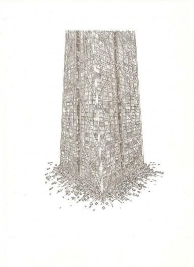 """Ilustração do livro """"O Condomínio Absoluto"""" de Carlos Teixeira e Vasco Mourão, editora C/Arte, 2009<br />Desenho Vasco Mourão"""