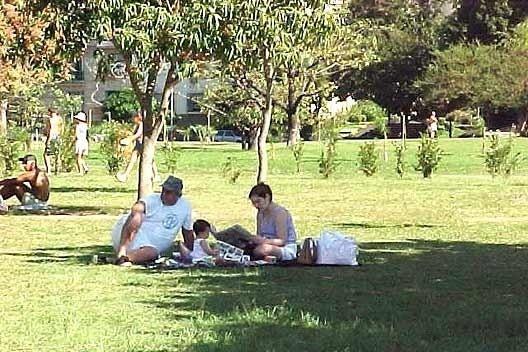 Familia na Grama, Parque do Flamengo, Rio de Janeiro: som do vento.<br />Foto P A Rheingantz