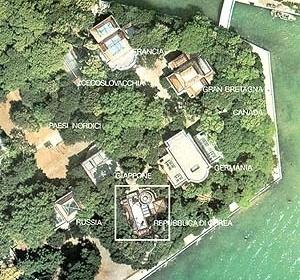 Localização do Pavilhão da Coréia [Pavilhão Coreano]